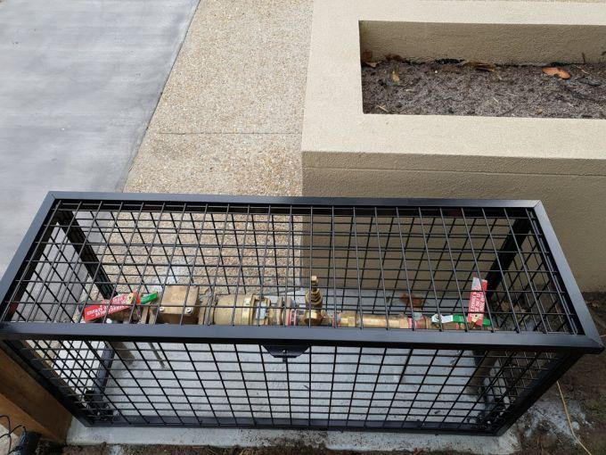 Fire service cage black