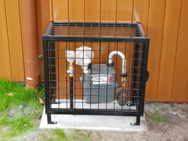 Water meter cage black